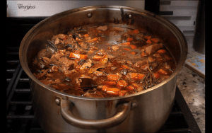 Large pot of beef Stew