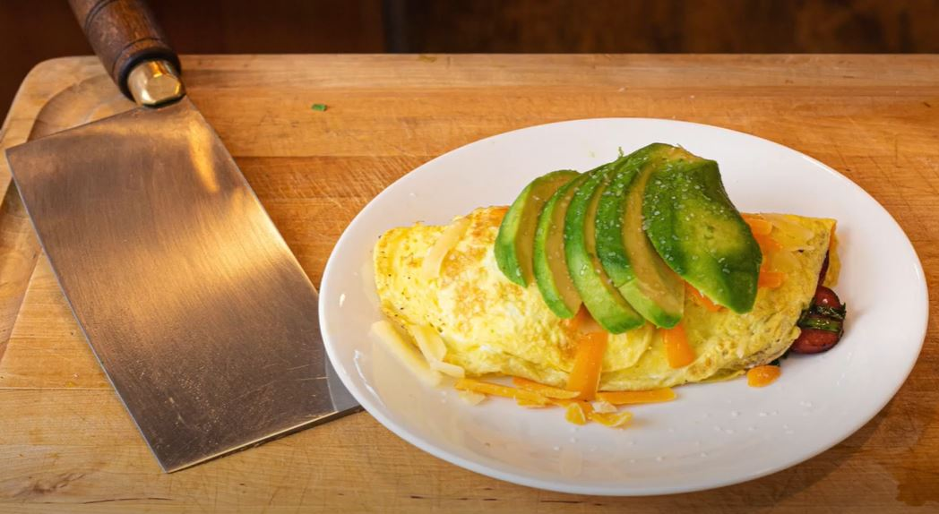 Omelet with Avocado and Sausage