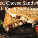 Gourmet parmesan crusted grilled cheese sandwich