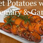 Pan fried sweet potatoes with rosemary and garlic