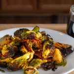 Brussels sprouts with balsamic glaze and bacon