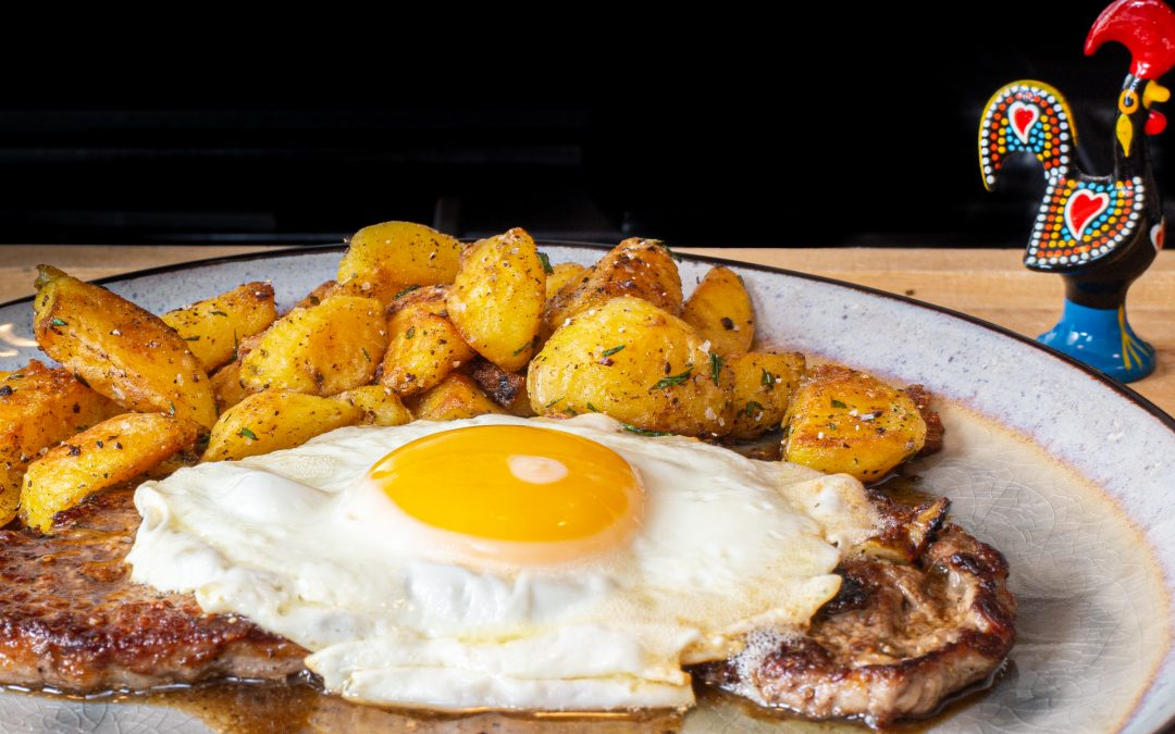 Bitoque | Steak with a Fried Egg and Butter Pan Sauce