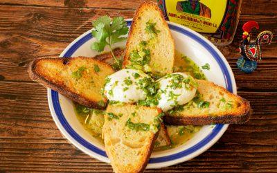 Açorda | Portuguese Garlic and Cilantro Bread Soup